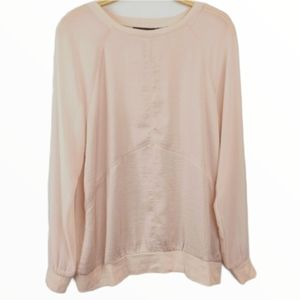 DKNY Long Sleeve blush pink Top